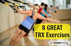 Take your fitness level up a notch with these fun and challenging exercises for the TRX suspension trainer.