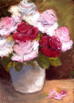 A vase of Roses, painting by artist Nita Leger Casey