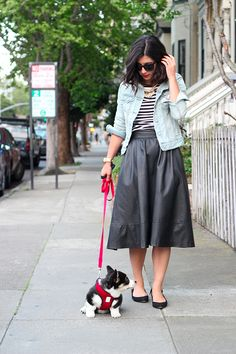 Maybe a little shorter. But I need to make me a nice black skirt like this!