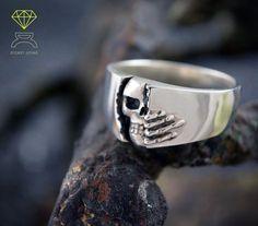Totenkopf Ring massiv Sterlingsilber Winter ist von Dcastjoyas