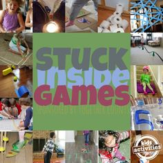 Stuck Inside Games - Perfect for the rainy afternoons or surprise snow days. Stuck Inside Games - Perfect for the rainy afternoons or surprise snow days. Craft Activities For Kids, Summer Activities, Toddler Activities, Games For Kids, Toddler Play, Easy Crafts With Kids, Family Activities, Kids Fun, Kid Crafts