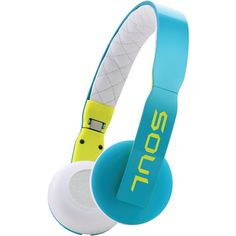 Soul Loop On-ear Headphones With Microphone (blue And White)