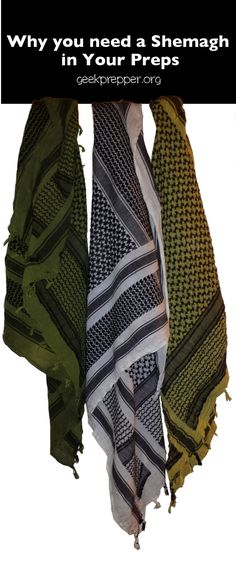 Think of the Shemagh as the bandana's big brother. They have almost unlimited uses. This is why You Need a Shemagh in your Preparedness Gear. GeekPrepper.org