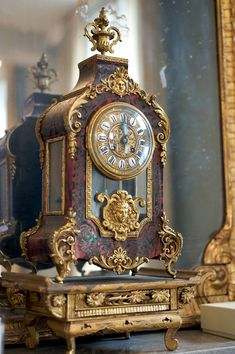 An antique clock sits atop Erin Fetherston's mantle. (Photography: Carol Dronsfield)
