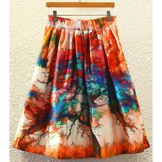 Stylish Printed High Waist Women's A-Line Skirt #CLICK! #clothing, #shoes, #jewelry, #women, #men