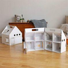 Casa de boneca de papelão - Casinha da Cys