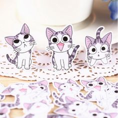 Cuteness overload alert! Inspired by popular Japanese manga series these super cute stickers illustrate antics of a small kitten Chi. They are sure to bring a lot of fun to your day. Grab yours at kawaiipenshop.com. We ship worldwide and for free!