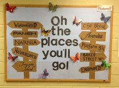 Oh the places you'll go! Summer bulletin board