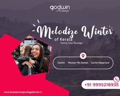Explore colourful destinations of Kerala with your Family!!!  For Booking: Call / Whatsapp : +91 9995218935, +91 9895999412 Website : www.honeymoonpackagekerala.in | www.godwinholidays.com  #familytravel #familytime #explorekerala #Godwinholidays