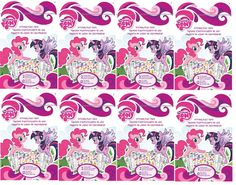 My Little Pony Sticker Set Deluxe Party Favors for Eight Pony Stickers