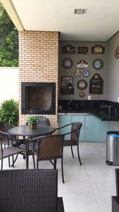 Open House Nathália Duarte – 2ª parte Desing Inspiration, Outdoor Stove, Sweet Home, My Ideal Home, Sims House, New Home Designs, Home Decor Kitchen, Interior Design Living Room, Luxury Homes