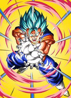 Dragon Ball Z, Dragonball Goku, Dbz Vegeta, Vegito Ssj Blue, Goku Blue, Dragon Super, Got Dragons, Anime Shows, Illustration