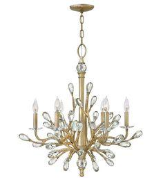 Fredrick Ramond FR46806CPG Eve 6 Light 26 inch Champagne Gold Chandelier Ceiling…