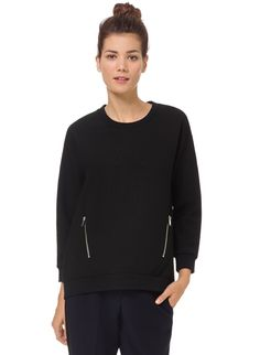 BABATON ROMAN BLOUSE - A softly structured sweatshirt blouse finished with bold zips