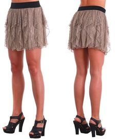 Lace Mini Skirt  Just put over your tights and instant cover up between dance classes.     Only $9.00 at www.chicagodancesupply.com