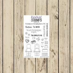 Building Blocks 4x6 Clear Rubber Stamp Set
