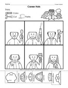 community helpers cut-paste worksheet (2) | Crafts and Worksheets for Preschool,Toddler and Kindergarten