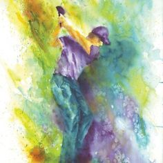 Watercolor painting of sports golfer swinging club in sand trap impressionistic modern contemporary original painting by Barb Capeletti Watercolor Paintings, Original Paintings, Watercolor Ideas, Watercolors, Golf Painting, Impressionist, Giclee Print, Local Charities, Fine Art