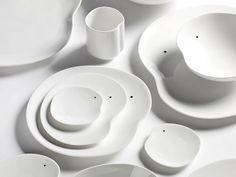 Conjunto de Louça Forma Orgânica. Designer: Roel Vande Beek.