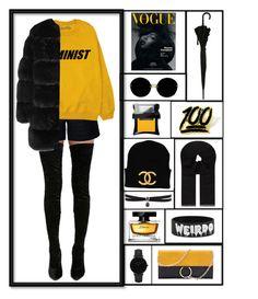 """Black & Yellow <3"" by xanniee on Polyvore featuring moda, Cape Robbin, Rumour London, Miu Miu, CLUSE, Fallon, Illamasqua, Dolce&Gabbana, PINTRILL i MaxMara"
