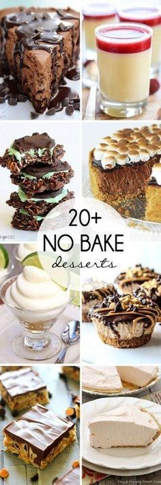 Don't let the summer heat interfere with you enjoying the best meal of the day. I've rounded up 20+ No Bake Desserts that your friends and family will love!