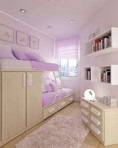 small purple bedroom design