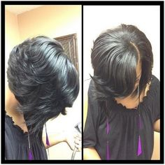 feathered haircuts for black women - Google Search