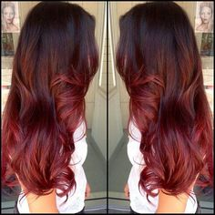 You can check the article Light Your Life with Red Ombre Hair Extensions out and find other fashion and welcome red ombre hair color. Description from pinterest.com. I searched for this on bing.com/images