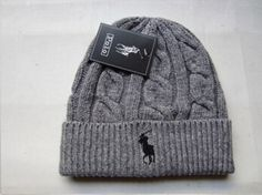 2015 POLO Gray Wool Casual Beanie Hat Cap for Men Women USA Seller FREE Shipping