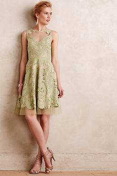 Embroidered Panna Dress #anthropologie
