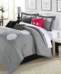 Take a look at this Gray Gamester Comforter Set on zulily today!