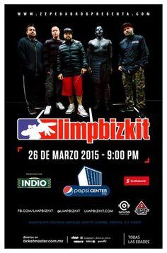 Limpbiskit en México Pepsi Center 26 de marzo