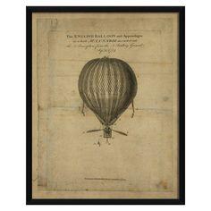 The English Balloon Framed Print