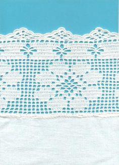 filet crochet flower border