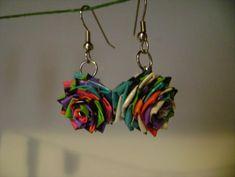 DIY Duct Tape Rose Earrings | 101 Duct Tape Crafts Please follow us @ http://www.pinterest.com/ducktapesale/