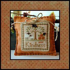 Kindness. Gráfico nº 10 de la serie Little sheep virtue de Little House Needleworks. En www.lacasinaroja.com