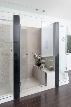 In Line Shower Door Eclipse Glass-Port Moody Showroom