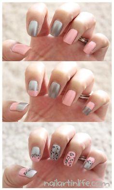 Leopard Print nails @ nailartinlife.com!!
