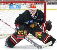 Blackhawks Player Appearances and Events Hockey Goalie Gear, Hockey Helmet, Ice Hockey Teams, Hockey Stuff, Hockey Pads, Goalie Pads, Chicago Blackhawks Players, Blackhawks Hockey, Hockey Gloves