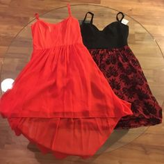 Dress Bundle! corset top dresses Bebe Nordstrom Bundle ‼️‼️ Bebe high low dress (works once )!and Nordstrom dress new with tags bebe Dresses High Low