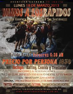 Vamos a Los Rápidos De Jalcomulco Este 18 De Marzo 2013