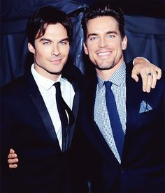 Ian Somerhalder & Matt Bomer- OK, I dont usually pin pictures of men, because I am married and I dont personally think its appropriate, BUT this is the greatest picture on the PLANET!! LOL