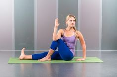 5. Seated Spinal Twist (Marichi's Pose)