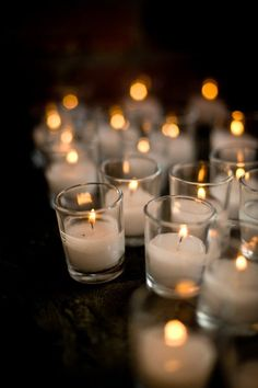 candles - electric ones so you don't have to worry about tea lights burning out!