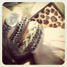 WobiSobi: Chain and Rhinestone, Wrapped Bracelet, DIY