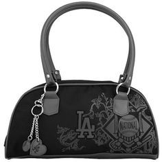 L.A. Dodgers Ladies Black Caprice Handbag Dodgers Outfit, Dodgers Gear, Go Blue, My Wish List, Los Angeles Dodgers, Tote Bag, Purses, My Style, Lady