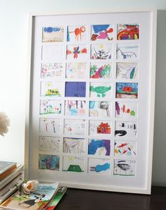 The best way to display kids art - diy kid's art collage. The best way to display kids art - diy kid's art collage.