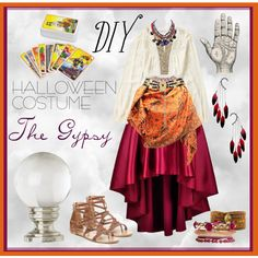 Shop Your Closet: Gypsy Costume by krskinner on Polyvore featuring polyvore, fashion, style, Miss Me, Bucco, Chan Luu, Anni Jürgenson, Black & Brown London, clothing and DIY