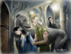Lúthien, Huan, Celegorm, and Curufin