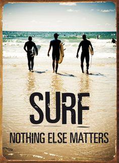 Surf Matters Plaque en métal sur AllPosters.fr